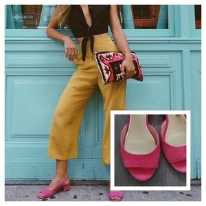 Pinks Suede Ankle Sandals